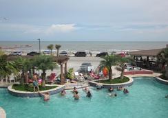 加多的海濱汽車旅館 - Galveston - 游泳池