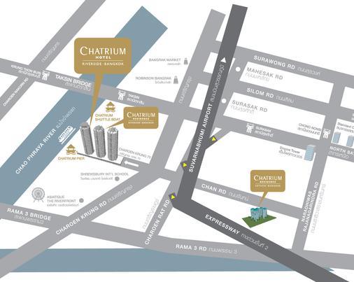 橡樹河畔曼谷酒店 - 曼谷 - 地圖