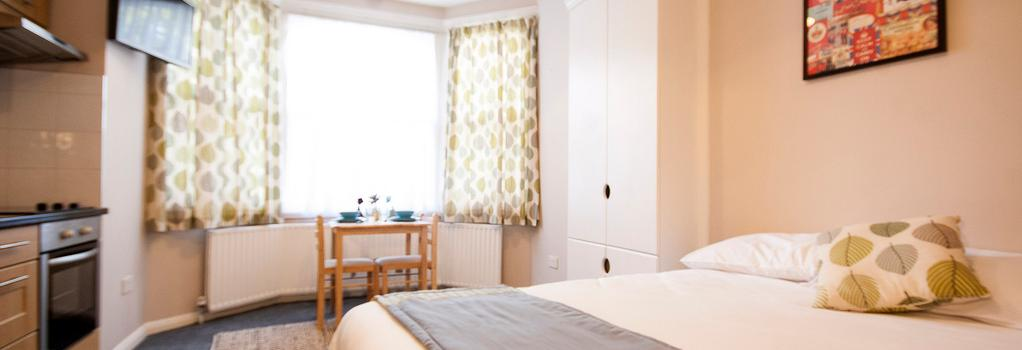 United Lodge Hotel & Apartments - 倫敦 - 臥室